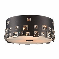 PLC 81393BK Twilight Black Flush Mount Ceiling Light Fixture