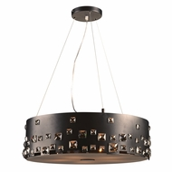 PLC 81395BK Twilight Black Halogen Drum Hanging Pendant Lighting