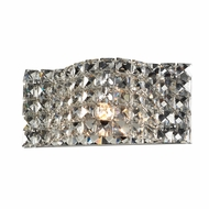 PLC 90022PC Wave Polished Chrome Wall Lighting