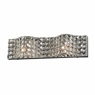 PLC 90024PC Wave Polished Chrome 2-Light Bathroom Lighting Sconce