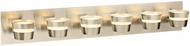 PLC 90066SN Sitra Contemporary Satin Nickel LED 6-Light Bath Lighting Sconce