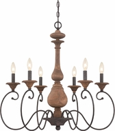 Quoizel ABN5006RK Auburn Traditional Rustic Black Chandelier Light