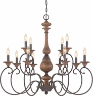 Quoizel ABN5012RK Auburn Traditional Rustic Black Chandelier Lighting