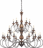 Quoizel ABN5024RK Auburn Traditional Rustic Black Lighting Chandelier