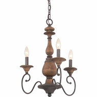 Quoizel ABN5303RK Auburn Traditional Rustic Black Mini Chandelier Lamp
