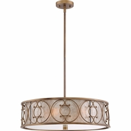 Quoizel ADE2822ER Avondale Empire Brass Fluorescent Drum Pendant Lighting