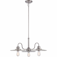 Quoizel ADM5103AN Admiral Antique Nickel Finish 30  Wide Chandelier Light