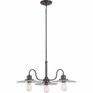 Quoizel ADM5103IB Admiral Imperial Bronze Finish 14.5  Tall Chandelier Lighting