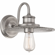 Quoizel ADM8701AN Admiral Antique Nickel Finish 10  Wide Wall Sconce