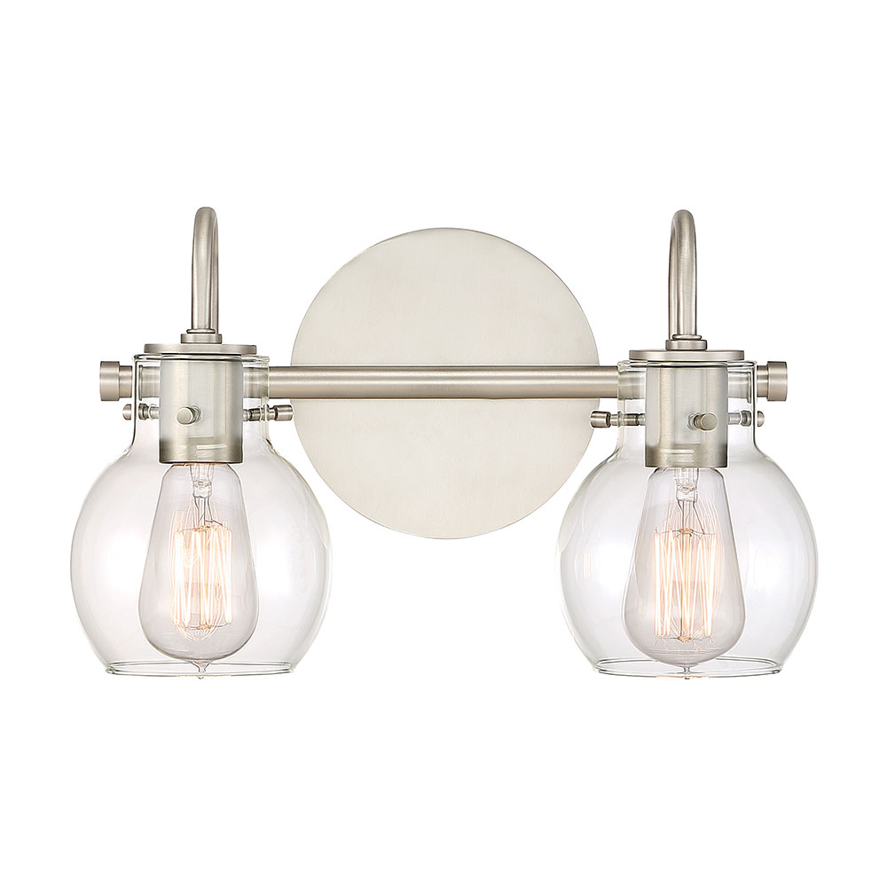 quoizel anw8602an andrews contemporary antique nickel 2 light bathroom lighting loading zoom