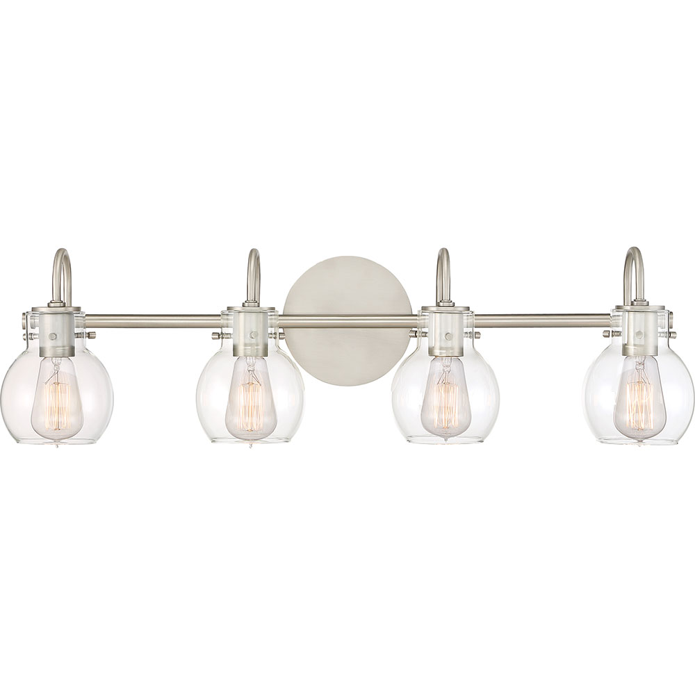 quoizel anw8604an andrews contemporary antique nickel 4 light bath lighting loading zoom