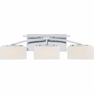 Quoizel ARC8603CLED Arch Contemporary Polished Chrome LED 3-Light Bathroom Lighting Fixture