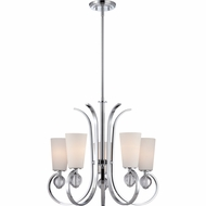 Quoizel ARH5005C Aldrich Contemporary Polished Chrome Finish 26  Wide Lighting Chandelier