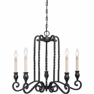 Quoizel ATM5005K Atrium Traditional Mystic Black Finish 27  Wide Chandelier Lamp