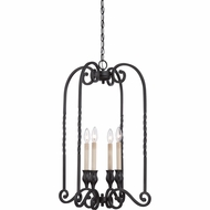 Quoizel ATM5204K Atrium Traditional Mystic Black Finish 28.5  Tall Mini Chandelier Light