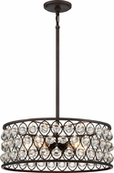 Quoizel AX2820PN Alexandria Contemporary Palladian Bronze Drum Pendant Lighting