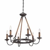 Quoizel BDR5006IB Bandelier Imperial Bronze Finish 26  Wide Chandelier Light