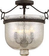 Quoizel BGS1715RK Burgess Rustic Black Ceiling Lighting Fixture