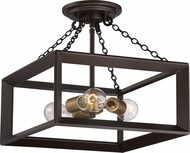 Quoizel BKH1714WT Brook Hall Western Bronze Ceiling Light Fixture