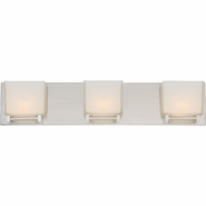 Quoizel BNN8603BNLED Banner Modern Brushed Nickel LED 3-Light Bath Light Fixture