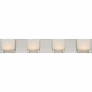 Quoizel BNN8604BNLED Banner Contemporary Brushed Nickel LED 4-Light Bath Lighting Fixture