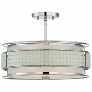 Quoizel BNY1716C Boundary Contemporary Polished Chrome Ceiling Lighting Fixture
