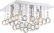 Quoizel BRX1611C Bordeaux With Clear Crystal Polished Chrome Xenon Flush Mount Lighting