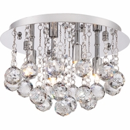 Quoizel BRX1612C Bordeaux Polished Chrome Finish 8  Tall Xenon Ceiling Light Fixture