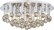 Quoizel BRXA1619C Bordeaux With Amber Crystal Polished Chrome Xenon Flush Mount Lighting Fixture