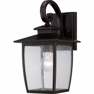 Quoizel BRY8408PN Bradley Traditional Palladian Bronze Finish 15  Tall Outdoor Wall Lighting
