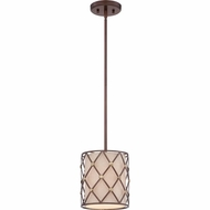 Quoizel BWL1508CC Brown Lattice Copper Canyon Finish 8  Wide Mini Drum Pendant Lamp