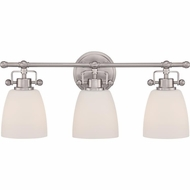Quoizel BWR8603BN Bower Brushed Nickel Finish 9.5  Tall 3-Light Lighting For Bathroom