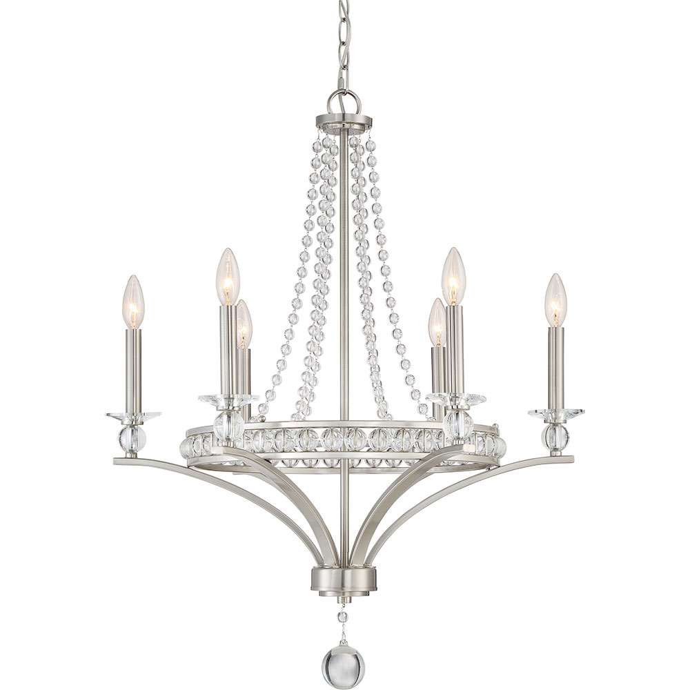 Quoizel BWS5006BN Brightwaters Brushed Nickel Chandelier