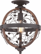 Quoizel CHB1612DK Chamber Vintage Darkest Bronze Ceiling Light