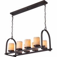 Quoizel CKAD836PN Aldora Palladian Bronze Finish 16  Tall Island Lighting
