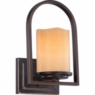 Quoizel CKAD8701PN Aldora Palladian Bronze Finish 7.5  Wide Wall Sconce Lighting