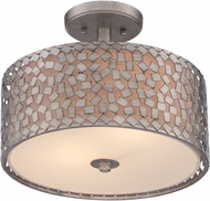 Quoizel CKCF1714OS Confetti Modern Old Silver Flush Ceiling Light Fixture