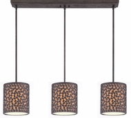 Quoizel CKCF339RK Confetti Contemporary Rustic Black Multi Drop Ceiling Light Fixture
