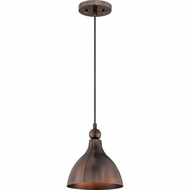 Quoizel CKGN1509MZ Gaston Vintage Mottled Bronze Finish 9  Wide Mini Hanging Light