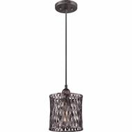 Quoizel CKHN1508SI Harlan Sierra Black Finish 10.5  Tall Mini Pendant Light Fixture