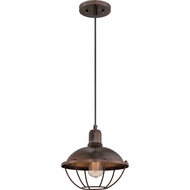 Quoizel CKHP1511MZ Heritage Nautical Mottled Bronze Finish 11  Wide Mini Pendant Lighting Fixture