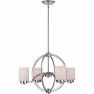 Quoizel CLT5004BN Celestial Contemporary Brushed Nickel Finish 25  Wide Chandelier Lamp