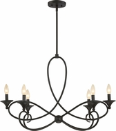 Quoizel CP5006IB Capri Imperial Bronze Chandelier Light
