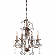 Quoizel CPN5004EG Capulin Empire Gold Finish 16  Wide Chandelier Light