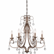 Quoizel CPN5006EG Capulin Empire Gold Finish 26.5  Tall Ceiling Chandelier