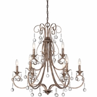 Quoizel CPN5009EG Capulin Empire Gold Finish 32  Wide Hanging Chandelier