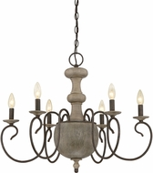 Quoizel CS5006RK Castile Rustic Black Chandelier Lighting