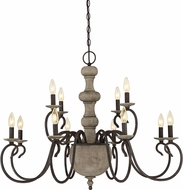 Quoizel CS5012RK Castile Rustic Black Lighting Chandelier