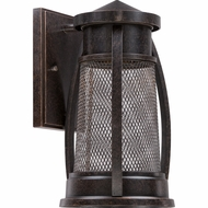 Quoizel CTE8306IB Captree Retro Imperial Bronze Finish 7  Wide Halogen Outdoor Wall Lighting Sconce