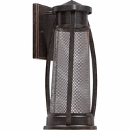 Quoizel CTE8406IB Captree Vintage Imperial Bronze Finish 16.5  Tall Halogen Exterior Wall Sconce Lighting